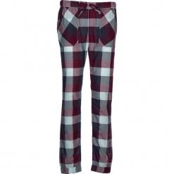 Spodnie piżamowe w kolorze granatowo-bordowo-fioletowym. Białe piżamy damskie marki LASCANA, w koronkowe wzory, z koronki. W wyprzedaży za 81,95 zł.