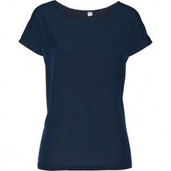 Bluzka shirtowa bonprix ciemnoniebieski. Niebieskie bluzki asymetryczne bonprix, z satyny. Za 54,99 zł.