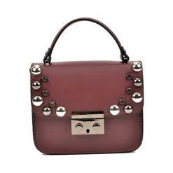 Torebka w kolorze bordowym - (S)18 x (W)15 x (G)7 cm. Brązowe torebki klasyczne damskie Bestsellers bags, w paski, z materiału. W wyprzedaży za 229,95 zł.