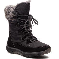 Śniegowce GABOR - 96.938.47 Schwarz. Czarne buty zimowe damskie Gabor, z materiału. Za 669,00 zł.