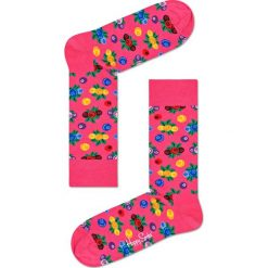 Happy Socks - Skarpetki Berries. Różowe skarpetki damskie Happy Socks, z bawełny. Za 39,90 zł.