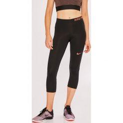 Nike - Legginsy. Szare legginsy sportowe damskie Nike, l, z dzianiny, dri-fit (nike). W wyprzedaży za 119,90 zł.