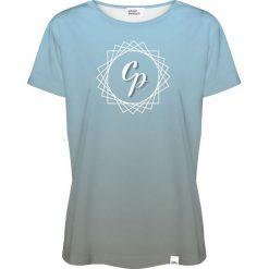 Colour Pleasure Koszulka damska CP-030 292 niebiesko-szara r. XL/XXL. Fioletowe bluzki damskie marki Colour pleasure, uniwersalny. Za 70,35 zł.