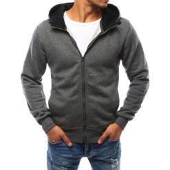 Bluzy męskie: Bluza męska z kapturem rozpinana antracytowa (bx2401)