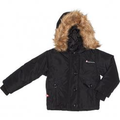 Kurtka zimowa w kolorze czarnym. Czarne kurtki dziewczęce zimowe marki Peak Mountain. W wyprzedaży za 172,95 zł.