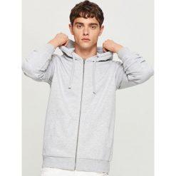 Bluza z kapturem - Jasny szar. Szare bluzy męskie rozpinane Reserved, l, z kapturem. Za 79,99 zł.