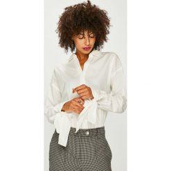 Vero Moda - Koszula Flow. Szare koszule wiązane damskie marki Vero Moda, l, z bawełny, casualowe, z klasycznym kołnierzykiem, z długim rękawem. Za 149,90 zł.