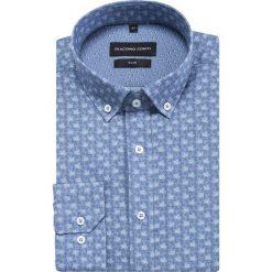 Koszula SIMONE slim KDNS000413. Niebieskie koszule męskie na spinki Giacomo Conti, m, z bawełny, button down. Za 169,00 zł.