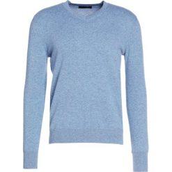 Swetry klasyczne męskie: Falke Sweter light blue melange