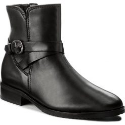 Botki GABOR - 72.754.57 Schwarz. Czarne buty zimowe damskie Gabor, z materiału, na obcasie. W wyprzedaży za 379,00 zł.