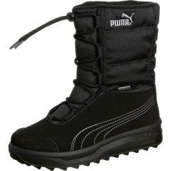 Puma BORRASCA III GTX WTR Śniegowce black. Czarne buty zimowe chłopięce Puma, z materiału. W wyprzedaży za 279,20 zł.
