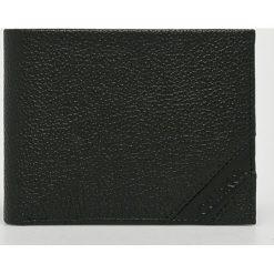 Calvin Klein - Portfel skórzany. Czarne portfele męskie Calvin Klein, z materiału. Za 279,90 zł.