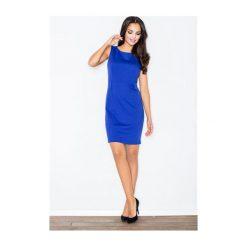 Sukienka Brendy M079 Niebieska. Niebieskie sukienki balowe FIGL, m, z krótkim rękawem, mini. Za 99,00 zł.