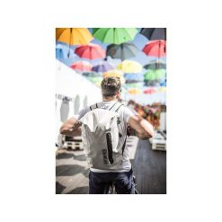 Plecak miejski FishDryPack CITY 20L Light Grey. Białe plecaki męskie Fish dry pack, z materiału, biznesowe. Za 209,00 zł.