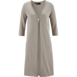 Sweter rozpinany Premium bonprix kamienisty. Szare kardigany damskie marki Mohito, l. Za 79,99 zł.