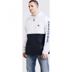 """Kurtka przejściowa """"Packable Sport"""" w kolorze biało-granatowym. Niebieskie kurtki sportowe męskie marki GALVANNI, l, z okrągłym kołnierzem. W wyprzedaży za 195,95 zł."""