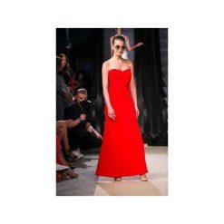 Sukienka Maxi Red. Czerwone długie sukienki Nat fashion room, na imprezę, z materiału, eleganckie, z gorsetem, z długim rękawem, dopasowane. Za 580,00 zł.