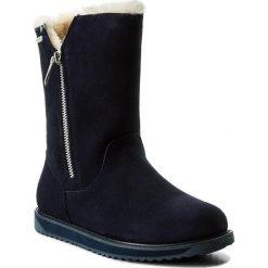 Buty EMU AUSTRALIA - Gravelly W11561 Midnight. Niebieskie buty zimowe damskie EMU Australia, ze skóry, na niskim obcasie. W wyprzedaży za 459,00 zł.