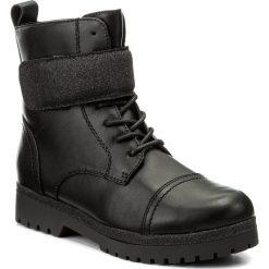 Botki JENNY FAIRY - WYL1093A-5 Czarny. Czarne buty zimowe damskie Jenny Fairy, z polaru, na obcasie. Za 139,99 zł.
