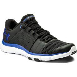 Buty UNDER ARMOUR - Ua Strive 7 1295778-004 Blk. Czarne buty fitness męskie Under Armour, z gumy, na sznurówki. W wyprzedaży za 189,00 zł.