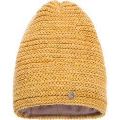 Czapki damskie: Melanżowa żółta prążkowana czapka QUIOSQUE
