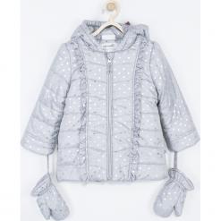 Kurtka. Szare kurtki dziewczęce przeciwdeszczowe BEAUTIFUL, z nadrukiem, z polaru, długie. Za 189,90 zł.
