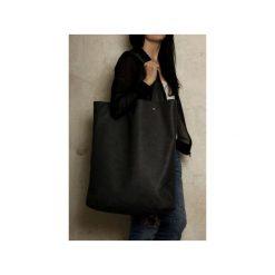 Mega Shopper bag grafitowa torba oversize Vegan. Szare shopper bag damskie Hairoo, w paski. Za 170,00 zł.