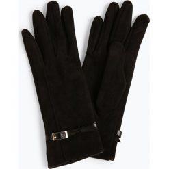Melkonian - Rękawiczki damskie, czarny. Czarne rękawiczki damskie Melkonian, w paski, ze skóry. Za 89,95 zł.