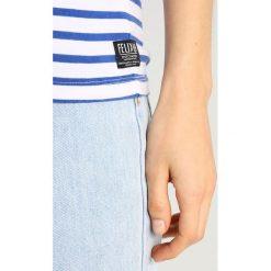 T-shirty damskie: Scotch & Soda BASIC TEE WITH SMALL FELIX EMBROIDERED Tshirt z nadrukiem blue