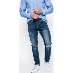 Only & Sons - Jeansy. Niebieskie jeansy męskie skinny Only & Sons, z aplikacjami, z bawełny. W wyprzedaży za 69,90 zł.