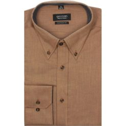 Koszula navia 2196 długi rękaw custom fit pomarańczowy. Brązowe koszule męskie marki FORCLAZ, m, z materiału, z długim rękawem. Za 69,99 zł.