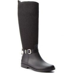 Oficerki TRUSSARDI JEANS - 79A0002879 K299. Czarne buty zimowe damskie Trussardi Jeans, z jeansu, przed kolano, na wysokim obcasie, na obcasie. Za 679,00 zł.