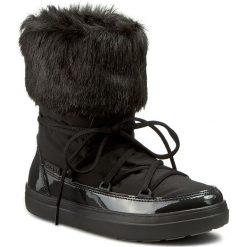 Śniegowce CROCS - Lodgepoint Lace Boot W 203423 Black. Czarne buty zimowe damskie marki Crocs, z materiału. W wyprzedaży za 259,00 zł.