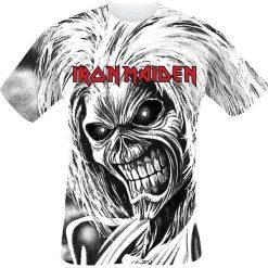 Iron Maiden Killers All-Over T-Shirt biały. Białe t-shirty męskie z nadrukiem Iron Maiden, xl, z okrągłym kołnierzem. Za 121,90 zł.