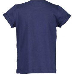 Blue Seven - Top dziecięcy 92-128 cm. Niebieskie bluzki dziewczęce Blue Seven, z bawełny, z okrągłym kołnierzem, z krótkim rękawem. W wyprzedaży za 19,90 zł.