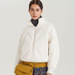 Puchowa kurtka ReDesign - Biały. Białe kurtki damskie puchowe Reserved, l, z puchu. Za 399,99 zł.