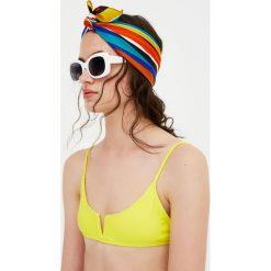 Stroje dwuczęściowe damskie: Żółta góra od bikini Paradise z wycięciem w kształcie V