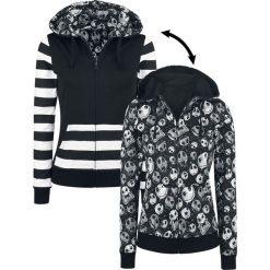 Bluzy damskie: Miasteczko Halloween Jack – Square Scream Reversible Bluza z kapturem rozpinana damska czarny/biały