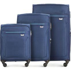 Zestaw walizek V25-3S-26S-90. Niebieskie walizki marki Wittchen, duże. Za 462,21 zł.
