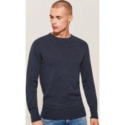 Gładki sweter - Granatowy. Niebieskie swetry klasyczne męskie marki House, l. Za 79,99 zł.