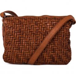 Skórzana torebka w kolorze jasnobrązowym - 21 x 16 x 7 cm. Brązowe torebki klasyczne damskie neropantera, w paski, z materiału. W wyprzedaży za 272,95 zł.