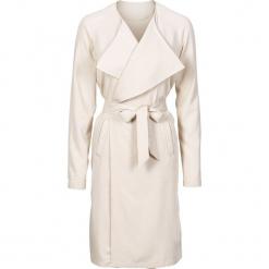 Letni płaszcz, bez podszewki bonprix beżowy. Brązowe płaszcze damskie pastelowe bonprix, na lato. Za 69,99 zł.