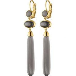 Kolczyki damskie: Kolczyki w kolorze złotym z kamieniami