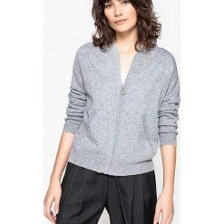 Kaszmirowy sweter na suwak z kapturem. Czarne kardigany damskie La Redoute Collections, l, z kaszmiru. Za 667,80 zł.