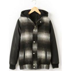 Kurtka z kapturem w stylu Teddy 10-16 lat. Czarne kurtki chłopięce przeciwdeszczowe R teens, z bawełny, młodzieżowe, z kapturem. Za 157,50 zł.