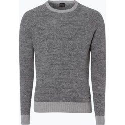 Swetry klasyczne męskie: BOSS Casual – Sweter męski – Akrege, szary