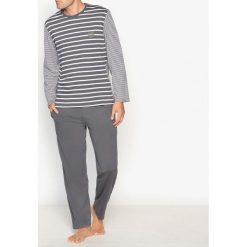 T-shirty męskie: Pidżama z górą w paski z długim rękawem 100% bawełna