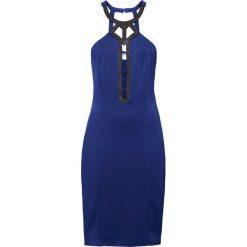 Sukienka wieczorowa bonprix niebieski. Niebieskie sukienki koktajlowe bonprix. Za 69,99 zł.