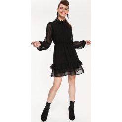 1728401817 sukienka z falbanką na biodrach - zobacz wybrane produkty. SZYFONOWA  SUKIENKA Z FALBANAMI. Czarne sukienki damskie koktajlowe marki ...