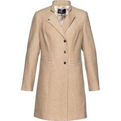 Płaszcze damskie pastelowe: Krótki płaszcz żakietowy bonprix wielbłądzia wełna melanż
